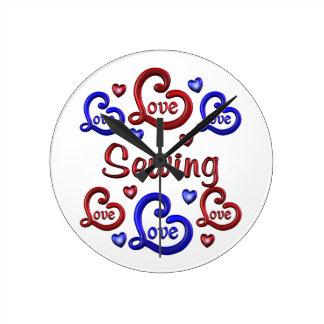 LOVE LOVE Sewing Round Clock