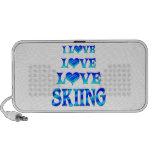 Love Love Skiing iPhone Speaker