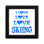 Love Love Skiing Jewelry Boxes