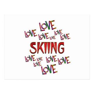 Love Love Skiing Postcard
