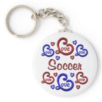 LOVE LOVE Soccer Keychain
