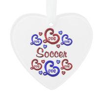 LOVE LOVE Soccer Ornament