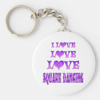 Love Love Square Dancing Keychains