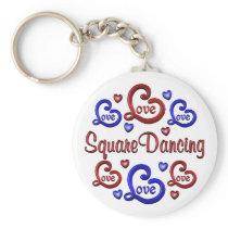LOVE LOVE Square Dancing Keychain