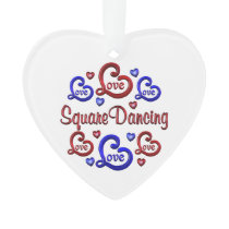 LOVE LOVE Square Dancing Ornament