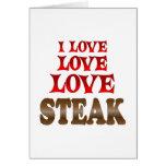 Love Love Steak Card