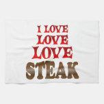 Love Love Steak Hand Towels