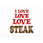 Love Love Steak Post Card
