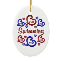 LOVE LOVE SWIMMING CERAMIC ORNAMENT