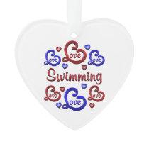 LOVE LOVE SWIMMING ORNAMENT