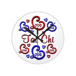 LOVE LOVE Tai Chi Round Clock