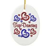 LOVE LOVE Tap Dancing Ceramic Ornament