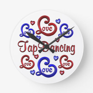 LOVE LOVE Tap Dancing Round Clock