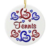 LOVE LOVE TENNIS CERAMIC ORNAMENT