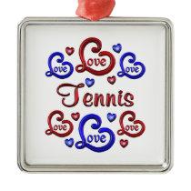 LOVE LOVE TENNIS METAL ORNAMENT