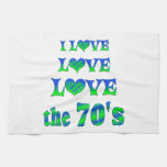 Love Love the 70s Hand Towels