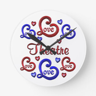 LOVE LOVE THEATRE ROUND CLOCK