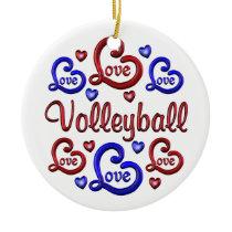 LOVE LOVE VOLLEYBALL CERAMIC ORNAMENT