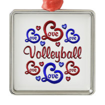 LOVE LOVE VOLLEYBALL METAL ORNAMENT