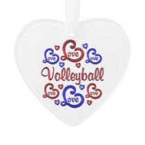 LOVE LOVE VOLLEYBALL ORNAMENT