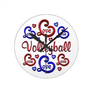 LOVE LOVE VOLLEYBALL ROUND CLOCK