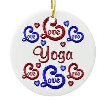 LOVE LOVE YOGA CERAMIC ORNAMENT