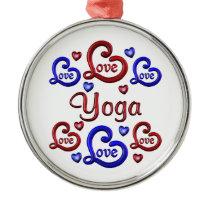 LOVE LOVE YOGA METAL ORNAMENT