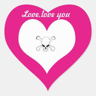 Love,love you heart sticker