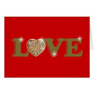 love, lovely, heart card