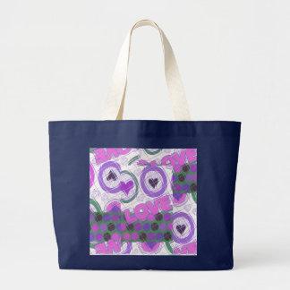Love lovely heartily heart sentimental feeling large tote bag