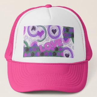 Love lovely heartily heart sentimental feeling trucker hat