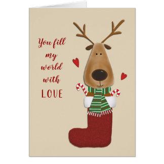 Love Lover Spouse Partner Christmas Greeting Card