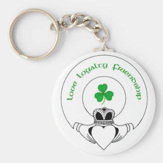 Love, Loyalty, Friendship Claddah Basic Round Button Keychain