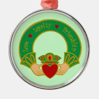Love Loyalty Friendship Irish Valentine Round Metal Christmas Ornament