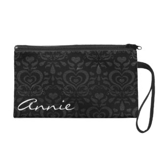 Love Luxe Black Custom Wristlet