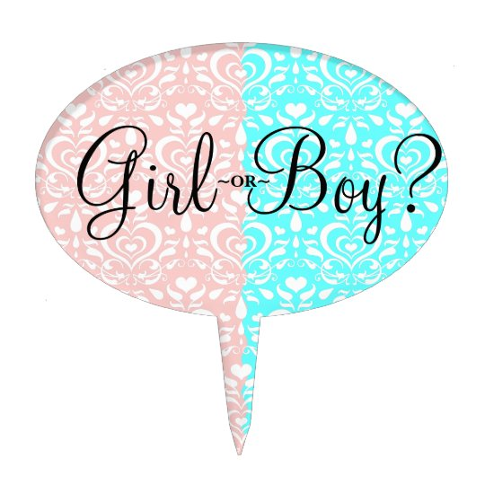 Love Luxe Girl or Boy Cake Topper