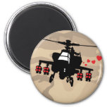 Love Machine Attack Chopper 2 Inch Round Magnet