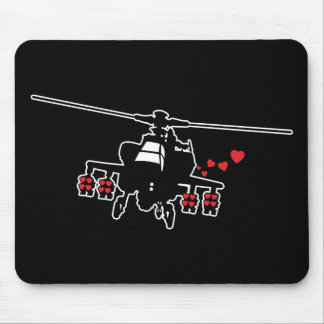 Love Machine Attack Chopper Mouse Pad