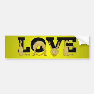 LOVE made by a very flexible pony Bumper Sticker