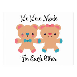 Love Made For Each Other Postcard