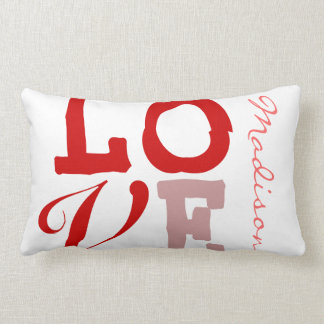 Love Madison Personalized Name Pillow for Girls