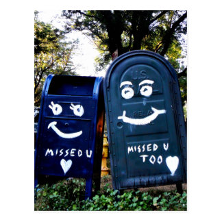 love mailboxes : i missed you postcard