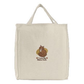 Love Maine Coon Embroidered Tote Bag