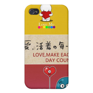 LOVE, MAKE EACH DAY COUNT! CASE FOR iPhone 4