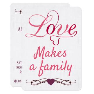 Love Makes a Family - Adoption Announcements