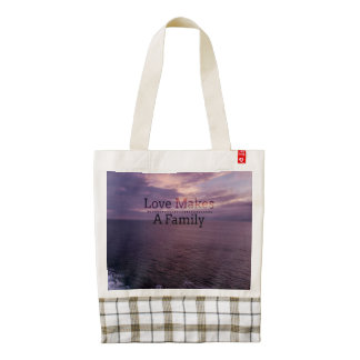 Love Makes a Family Adoption - Foster Care Zazzle HEART Tote Bag