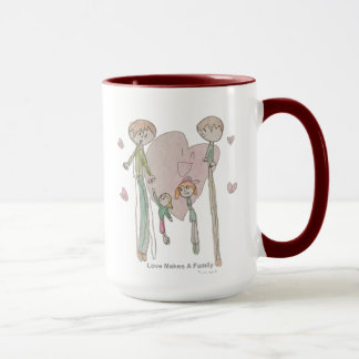 Love Makes a Family by Annika--15 oz Mug