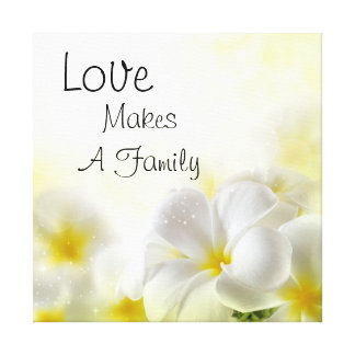 Love Makes A Family Canvas Print