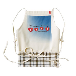 Love Makes a Family - Hearts Zazzle HEART Apron