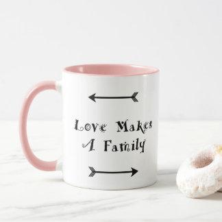 Love Makes a Family - Parenting Adoption Foster Mug